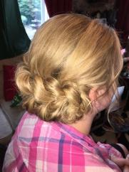 Large Bridal Plat Hair Up