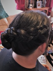 Side Braid Bridesmaids Hair Up